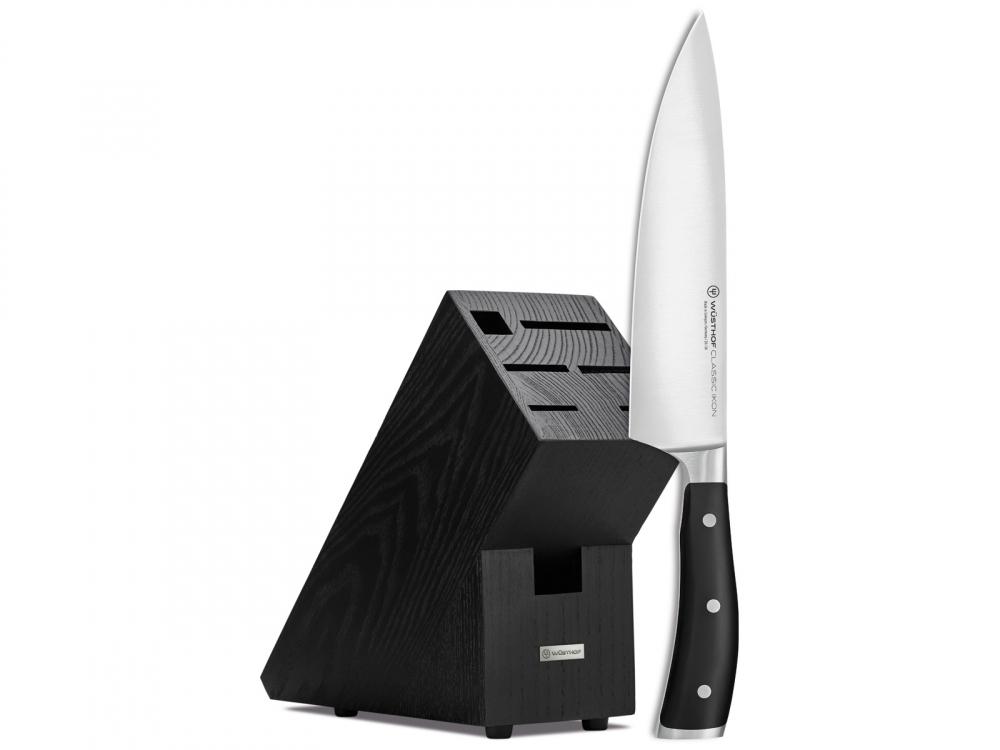 Wüsthof Classic Ikon kuchařský nůž 20 cm a blok na nože