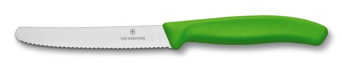 Victorinox vroubkovaný nůž na rajčata zelený