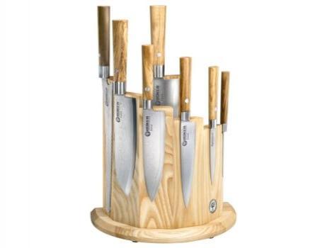 Böker Damast Olive, sada nožů